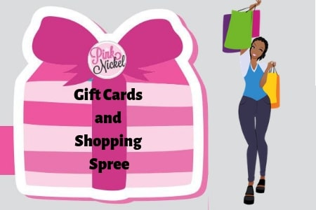 Gift cards and shopping spree