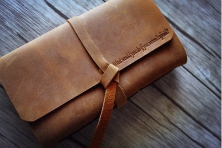 Leather Bound Journal with Name