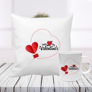 Exclusive Valentine Cushion and Mug - Indiagift