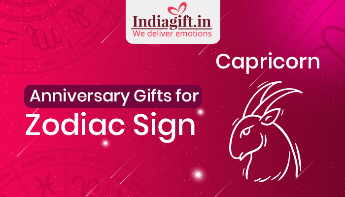 Anniversary Gifts for Zodiac Sign Capricorn - Indiagift