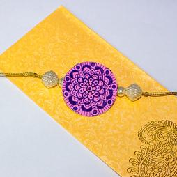 Purple Mandala Rakhi