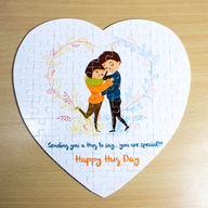 Hug Day Personalized Puzzle