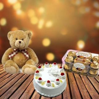 Cake, Chocolate and Teddy