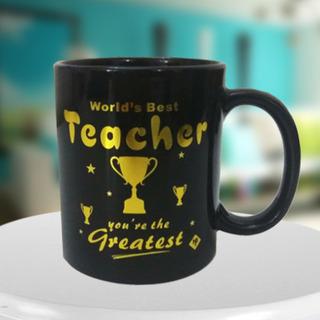 Worlds Best Teacher Black Mug