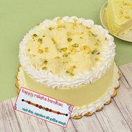 Rasmalai Cake with Rakhi