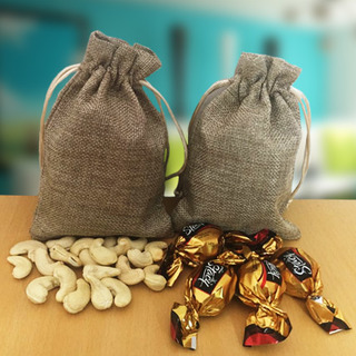 Cashews and Truffle in Jute Bags