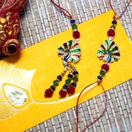 Peacock Rakhi Lumba Set