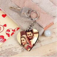 Heart Keychain with Photo