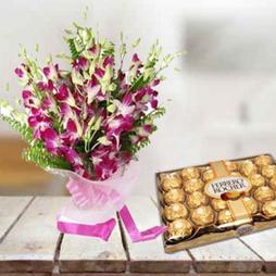 Orchids & Ferrero Rocher Chocolate