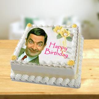 Mr. Bean Photo Cake