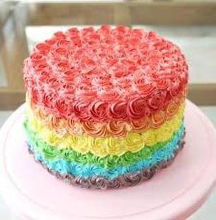 Valentine Rainbow Cake