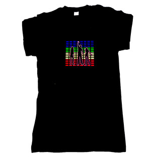 LED TShirt Colorful Print
