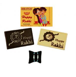 Happy Rakhi Twin Chocolate with 2 Rakhis
