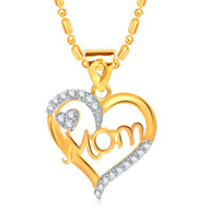 MOM Gold Plated Pendant