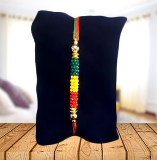 Tricolor Beads Rakhi