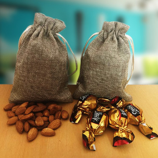Almonds and Truffle in Jute Bags