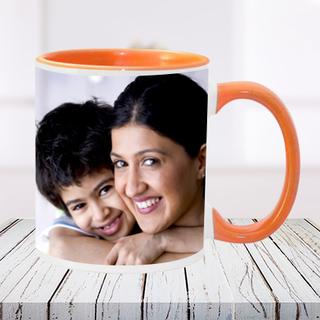 Orange Mom Photo Mug