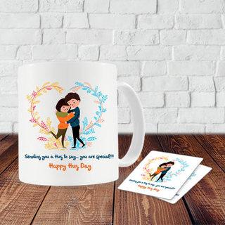 Hug Day Mug and Coasters