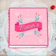 Pink Beautiful Mothers Day Cake