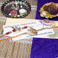 Beautiful Saffron Rakhi Set