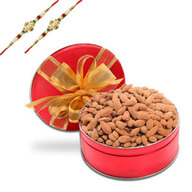 Rakhi with Almonds - Dry Fruits