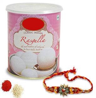Rasgulla Tin with Rakhi
