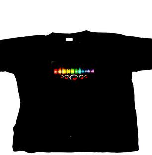 LED TShirt Music Print