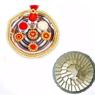 Diwali Pooja Thali with Sweets