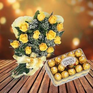 Yellow Roses & Chocolates