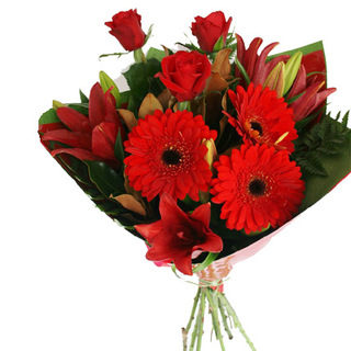 Red Mixed Flower Bouquet