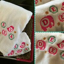 Personalised Monogrammed Girls Towel Set