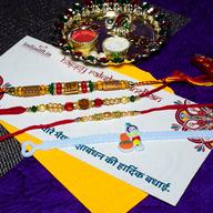 OM Krishna Rakhi Combo of 4