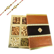Rakhi with Mix Dry Fruits 6 in 1