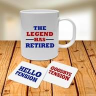 Retirement Mug and Coasters Set