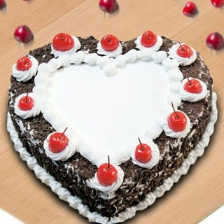 Exclusive Heart Shape Black Forest Cake