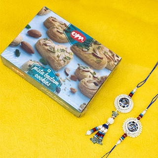 Bhaiya Bhabhi Rakhi with Cookies