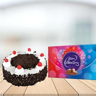 Blackforest Cake with Cadbury Celebrations