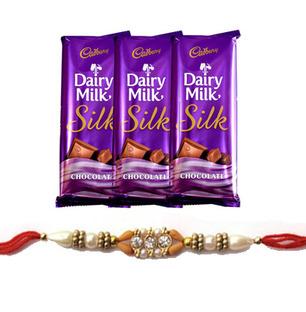 3 Dairy Milk Silk with Rakhi