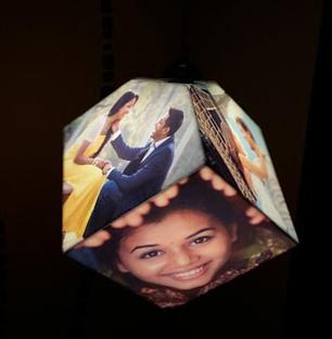 Dice Hanging Photo Lamp