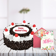 Mothers Day Blackforest Cake and Card
