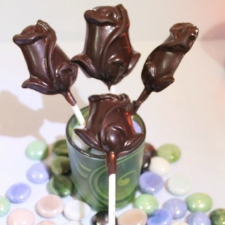 Chocolate Rose Lollies