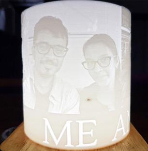 Personalised Lithophane Lamp