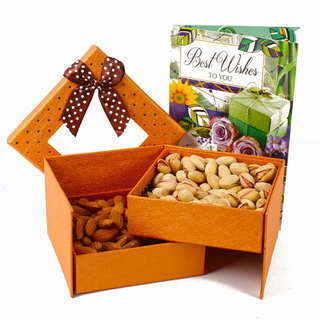 Diwali Dry Fruit Double decker Box