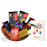 Easter Chocolate Basket with Easter Card