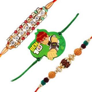 Set of 3 Rakhis-Family