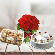 Cake, Flowers & Chocolates