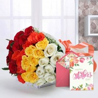 Mothers Day Elegant Mix Flowers and Card