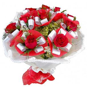 Stunning Red Roses Bouquet