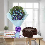 Chocolate cake and Orchids Combo with Rakhi