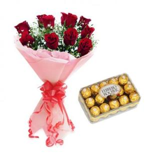 Valentine Roses with Ferrero Rocher